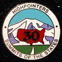 30 State Enameled Pin