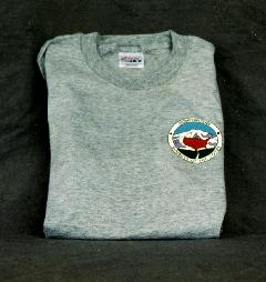 T-Shirt – Gray with Club logo on Both Sides