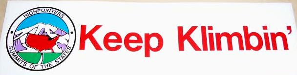"""Bumper Sticker – """"Keep Klimbin'"""""""