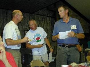 Dave Covill, Don Holmes and Roger Rowlett during the Highpointers 2002 Convention at Black Mesa, Oklahoma
