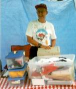 Jean Trousdale was hard at work selling Highpointer goods at the HP Merc. Jean and the Stricklands will be hosting the 2002 Convention at Black Mesa, Oklahoma.