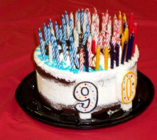 Sweet 90 candles!