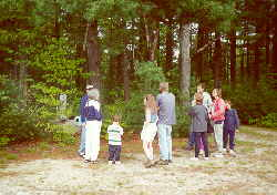 """Open access date for Memorial Day, 5-28-00: visitors at """"the rock."""""""