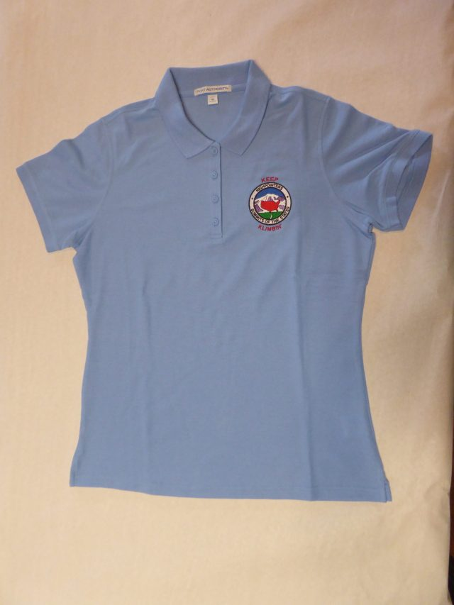 Ladies Polo Shirt – Light Blue with small Club logo on Front