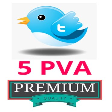 5 Fresh Twitter PVA Accounts