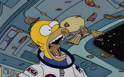 Homero astronauta y Los Simpson contra la indiferencia a las misiones espaciales