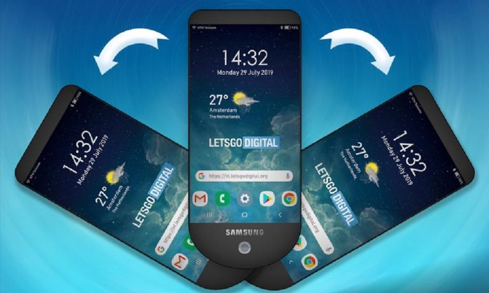 Samsung patenta un curioso smartphone con triple pantalla