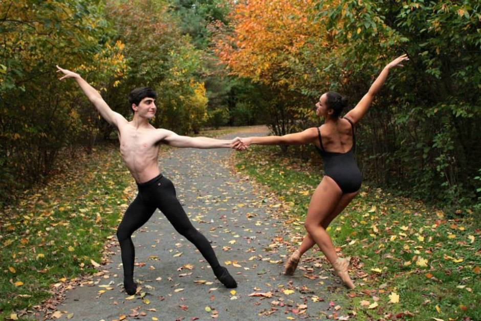 Kevin Silverstein and Ayla Allen. Photo: Princeton University Ballet/ Chanyoung Park.