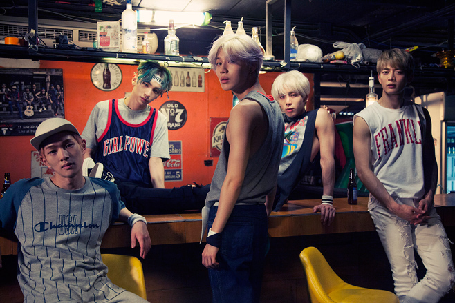 Onew, Key, Taemin, Jonghyun and Minho make SHINee. Photo from smtown.com