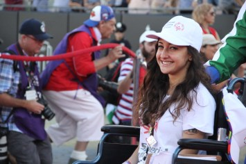 All smiles during the Special Olympics World Games Opening Ceremony, as the athletes from France make their way onto the field at the Coliseum on Saturday.