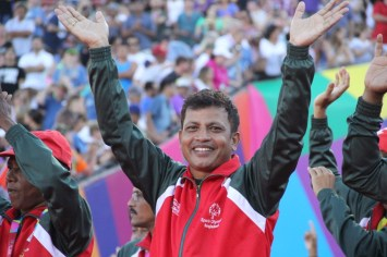 Team Bangladesh greets the roar of the World Games fans with pride and joy during the Special Olympics World Games Opening Ceremony on Saturday.