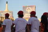 Team Malta athletes parade on the field under the setting Los Angeles sun during the Special Olympics World Games Opening Ceremony on Saturday.