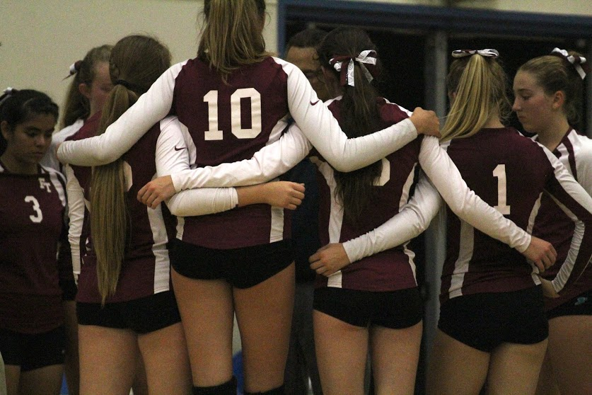 Foothill girls' volleyball defeated, 3-1, in first home game against Providence High School