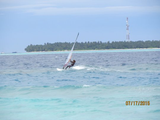 The Maldives is also the perfect place to windsurf!