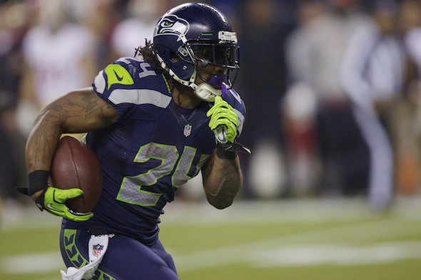 'Beast Mode' hangs up the cleats