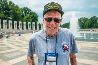 Flavin, along with several other veterans, had the opportunity to tour Washington D.C. and visit the World War II memorial.