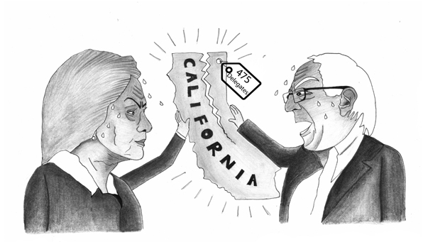 Battle of the Democrats: Bernie Sanders and Hillary Clinton face off