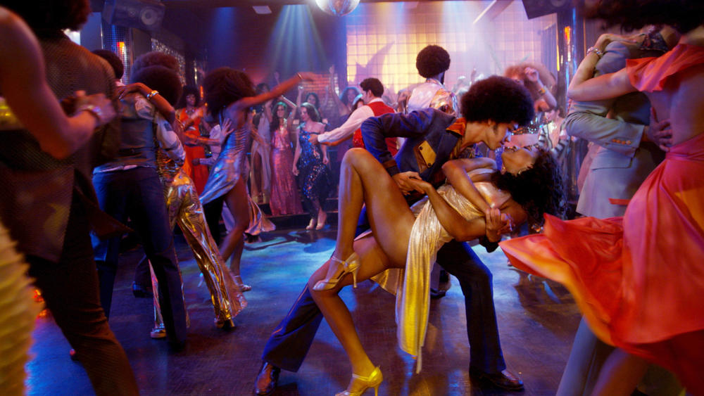 "Justice Smith as Ezekiel and Herizen Guardiola as Mylene Cruz in ""The Get Down."" Netflix"