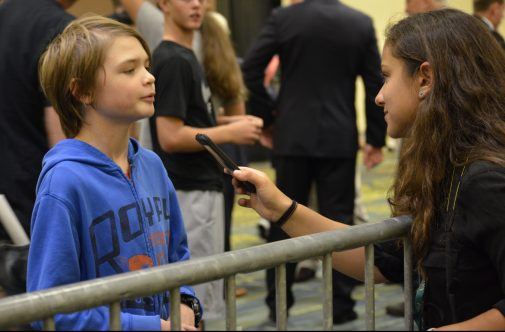 Elkadi interviewed multiple young people at the Rally. Credit: Leah Dusterhoft