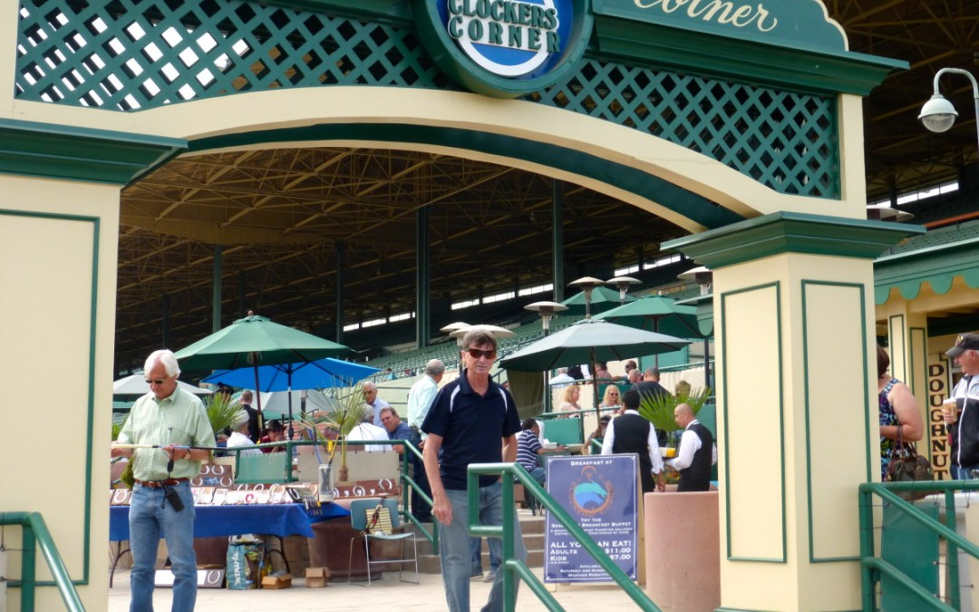 Enjoy a race while dining at the Clockers' Corner