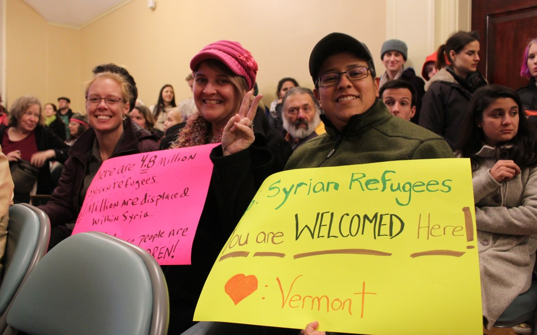 Vermonters rally in support of Syrian refugees