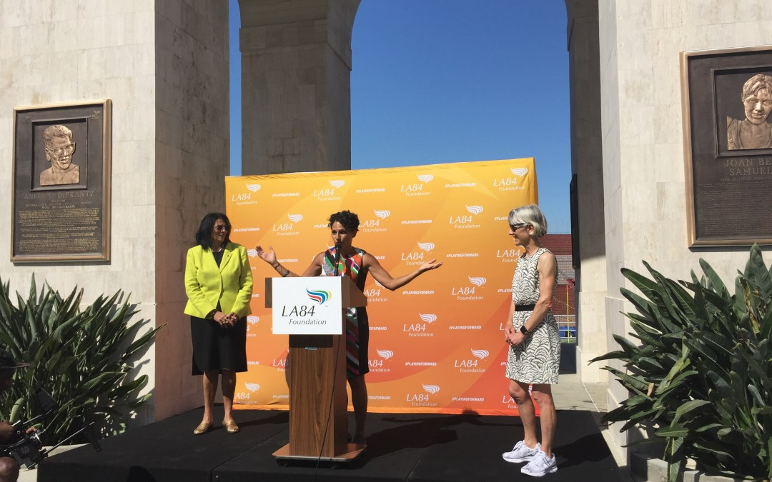 Two Olympians inducted into Coliseum Court of Honor