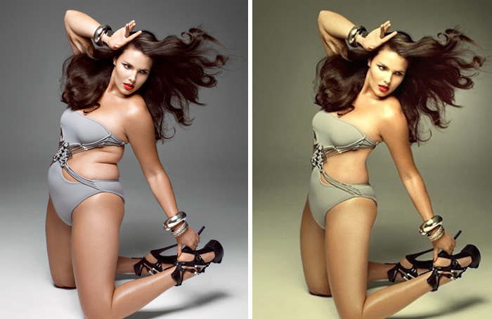 Photoshopped images make us feel bad about our own looks