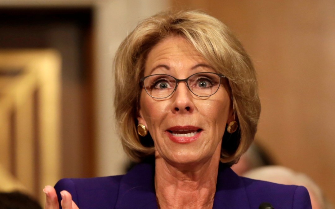 Commentary: The future of  Department of Education under Secretary DeVos