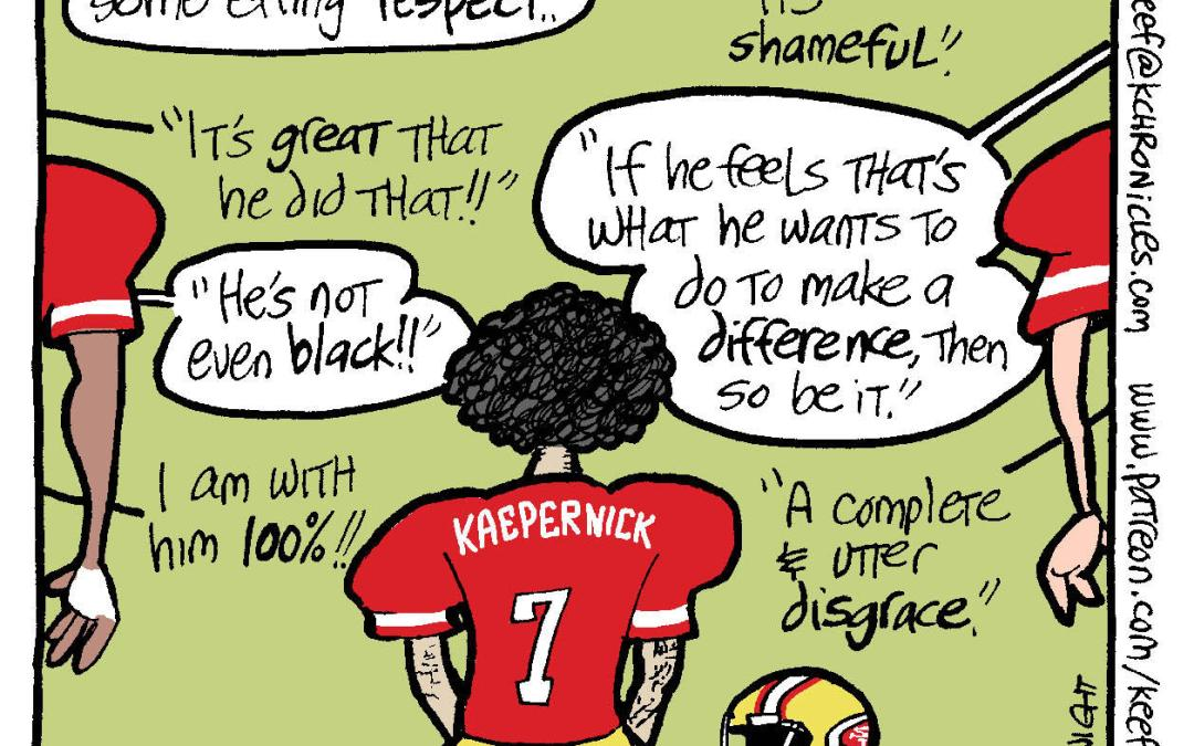 Divided we sit: Colin Kaepernick's protest
