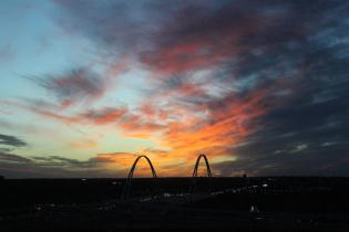 The sunset in Dallas before the first whole day spent in Texas comes to a close. Photo by Rachel Bullock