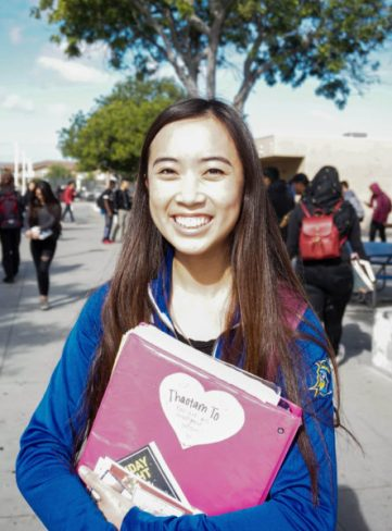 """""""The walk out is a great way for students to express their First Amendment. I think it's a great movement because it shows that students can make a difference and state their opinions on what they think of the situation,"""" said senior Tammy To."""