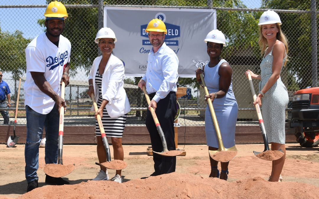 Los Angeles Dodgers Foundation, Yasiel Puig, others break ground on 50th Dodgers Dreamfield