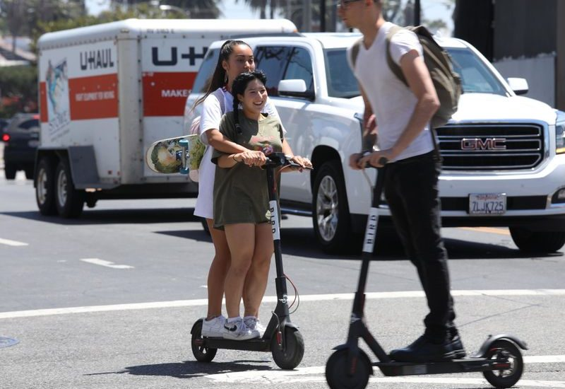 Opinion: LA should ban e-scooters to protect pedestrians