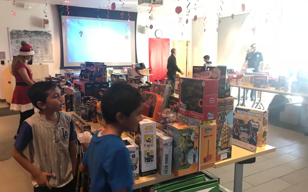 Toy Giveaway in the Northeast Police Station