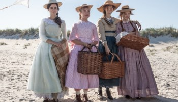 Emma Watson, left, Florence Pugh, Saoirse Ronan and Eliza Scanlen as the March sisters.