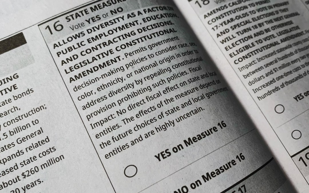 Opinion: Vote NO on Proposition 16 — A racist solution to racism