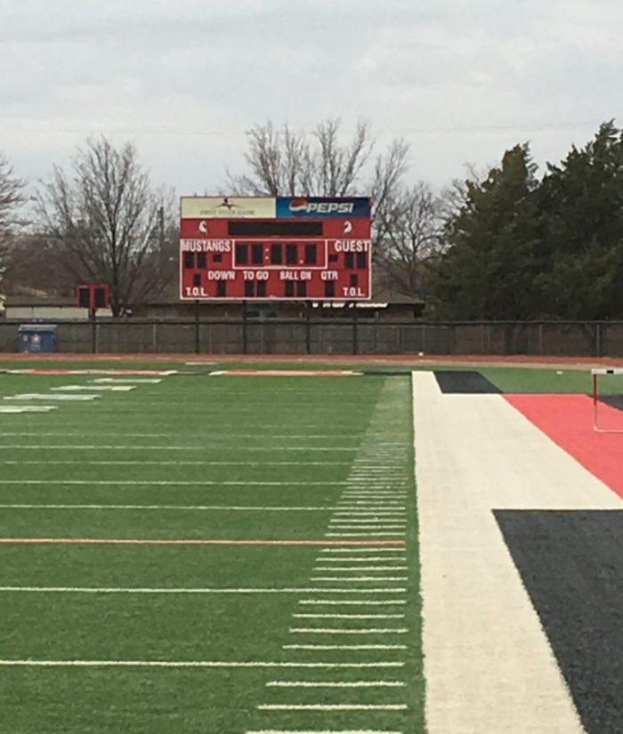 Shallowater high school football scoreboard