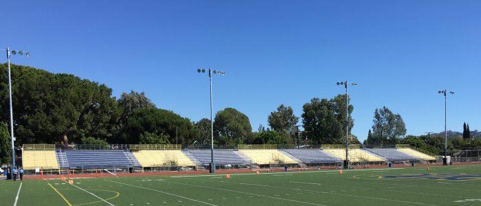notre dame high school football field