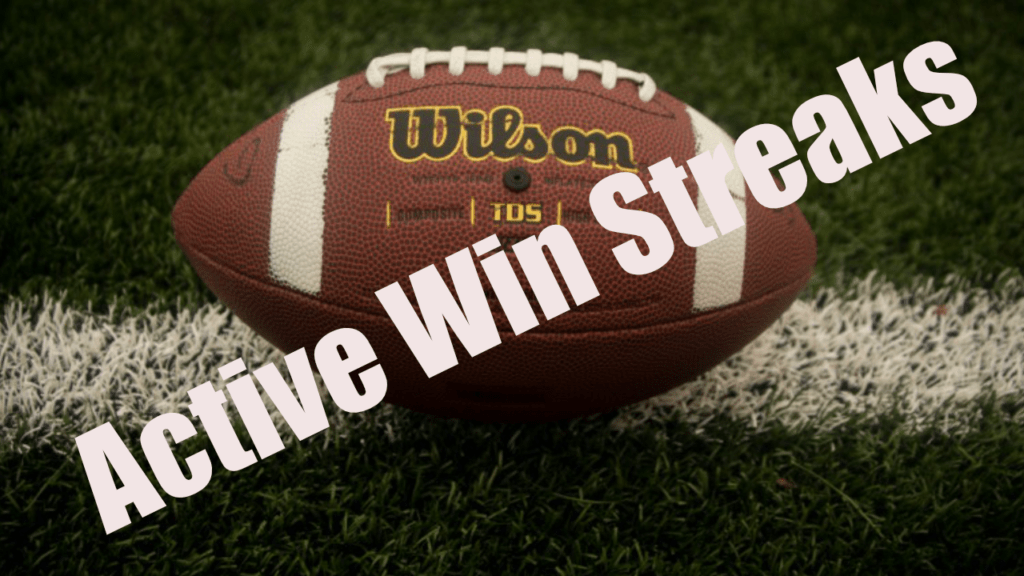 State By State Active High School Football Win Streaks High School
