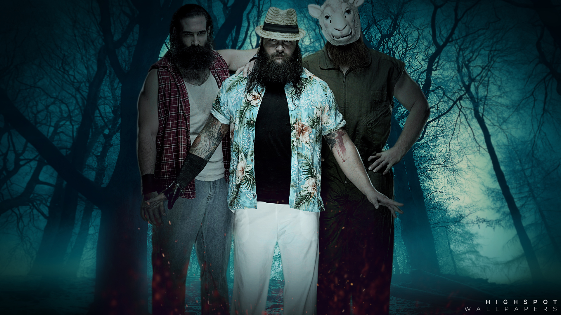 The Rock Hd Wallpapers 1080p The Wyatt Family Highspot Wrestling Wallpapers