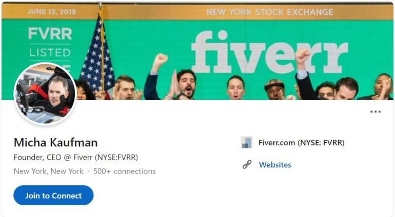 Fiverr Founder, CEO, Creator Micha Kaufman