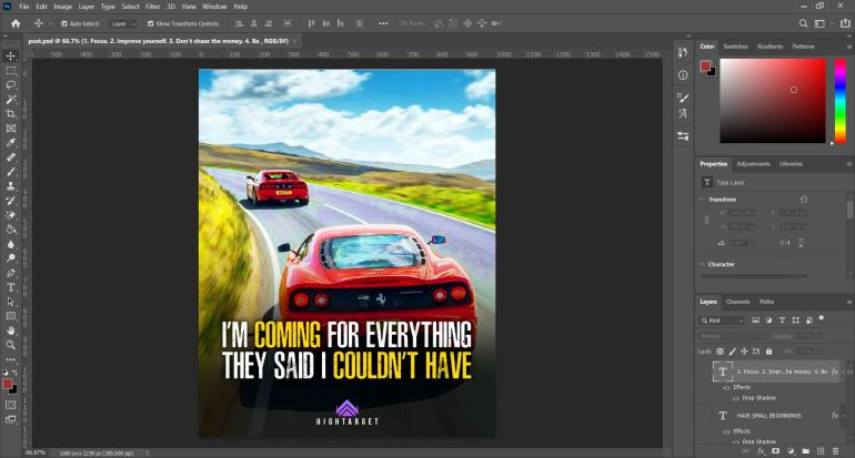 quotes creating on photoshop to promote facebook page free
