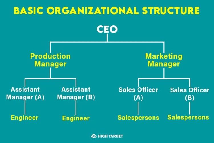 basic organizational structure for the strategic marketing plan