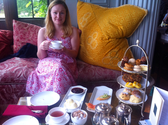 Kate Kendall takes High Tea at Stapleford Park