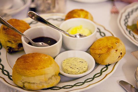 Bacon scones with truffle butter, Photo by Zara Farrar