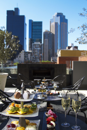 Afternoon Tea on the Terrace Bar at the Sheraton Melbourne Hotel