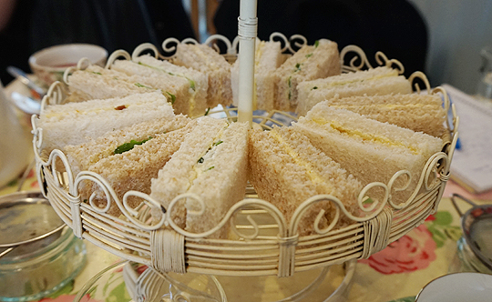 Selection of finger sandwiches at Bake-a-boo