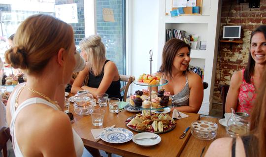 Guests enjoying high tea at the Brunswick Tea Room