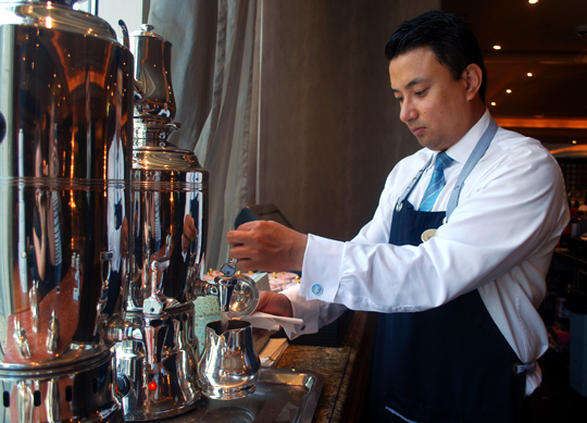 Tea Sommelier prepares tea