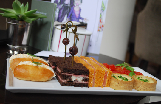 Sandwich and savoury selection